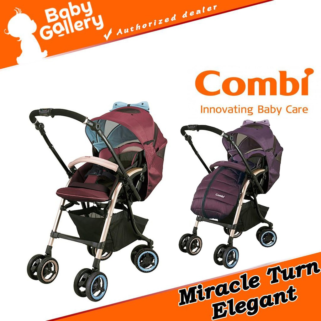 Carriage Type Strollers Combi Miracle Turn Elegant Stroller A Type Baby Stroller 1 Month To 36 Months