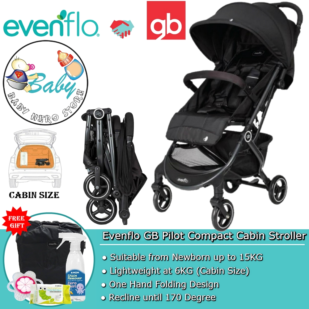 Compact Stroller Singapore Evenflo Gb Pilot Ultra Light Compact Cabin Baby Travel Stroller
