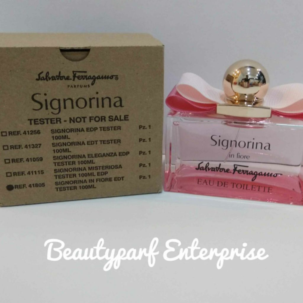 Edp Tester Salvatore Ferragamo Signorina In Fiore 100ml Tester Pack Edt Spray