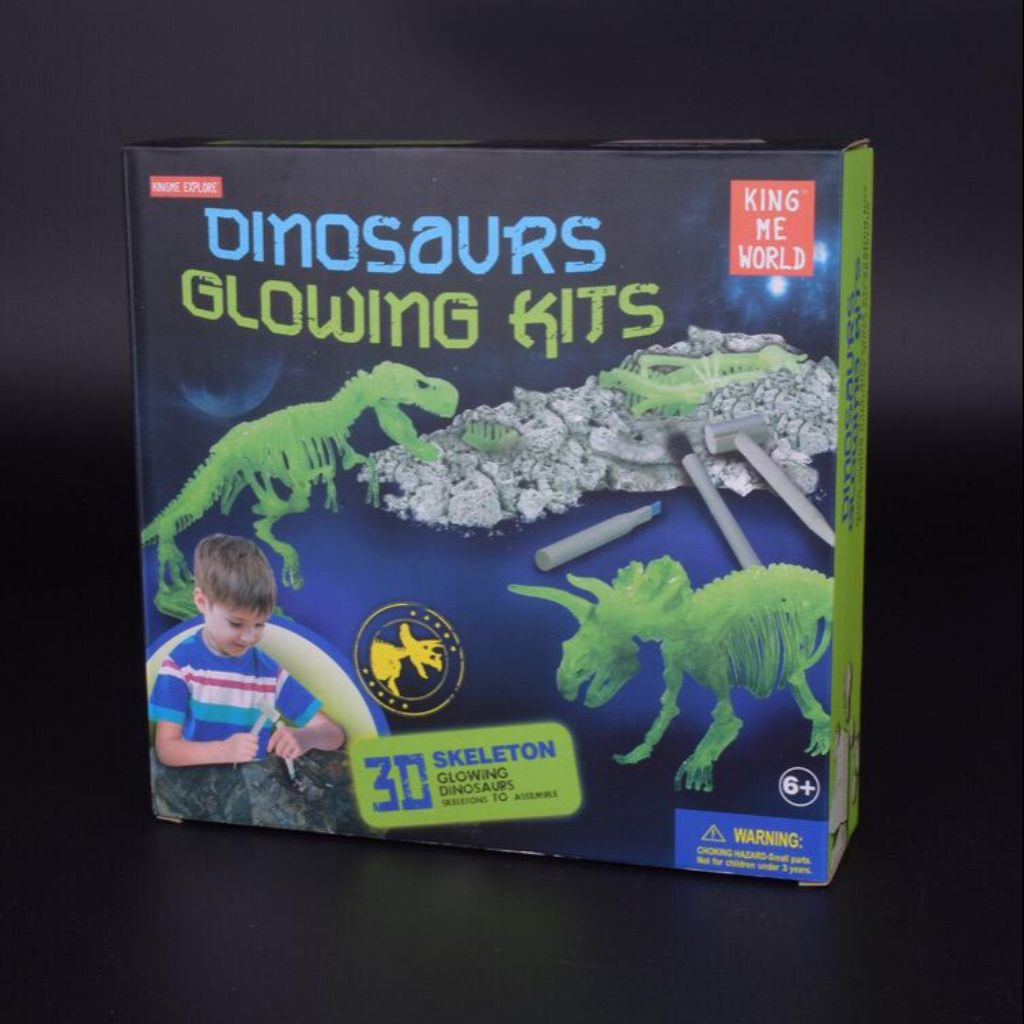 Sonstige Glow In The Dark Dino Dig It Out Kit Excavation Dinosaur Fun Classiccomforthvac Com
