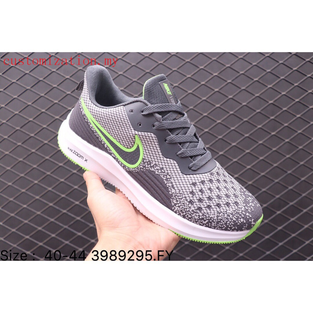 Nike Zoom Grey And Green Authentic Nike Zoom Sun Swifr 5 Men Sports Running Walking Shoes Grey Green
