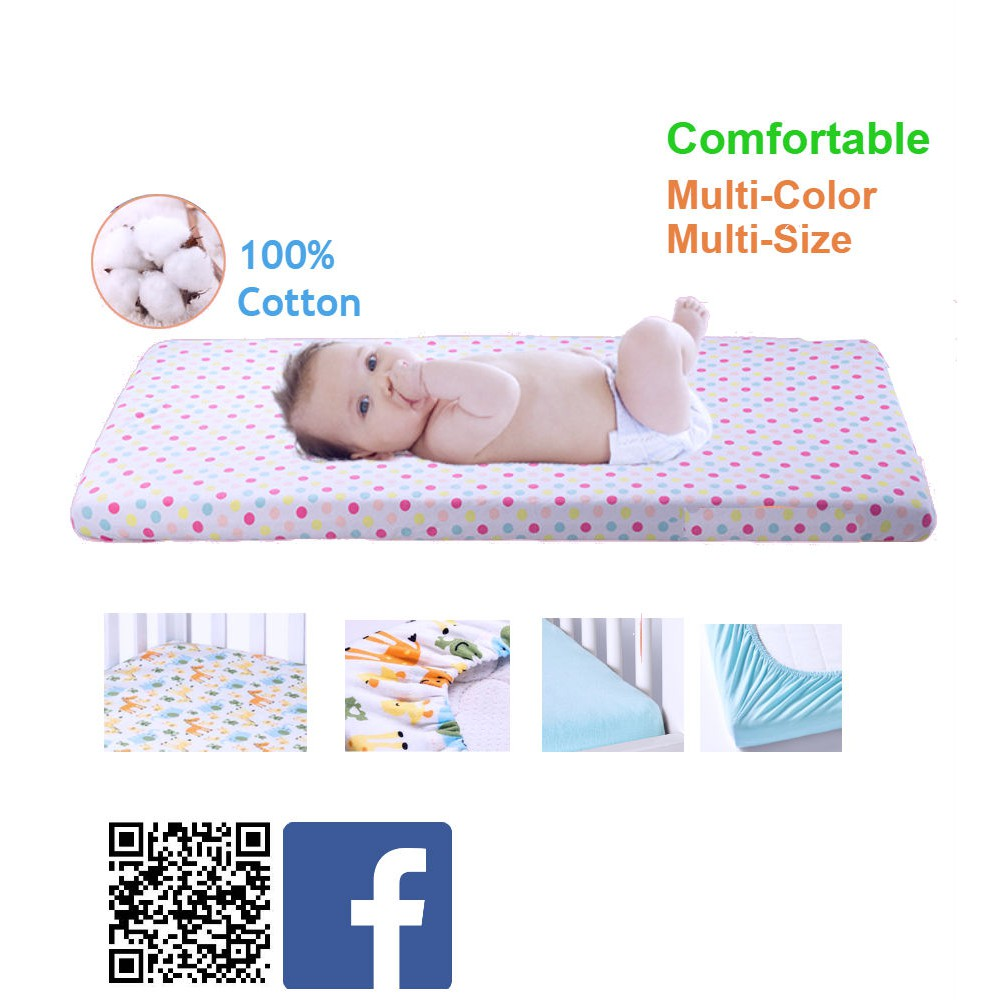 Baby Cradle Sheets 100 Cotton Fitted Sheet For Baby Cot Mattress Cover Multisize Multicolor