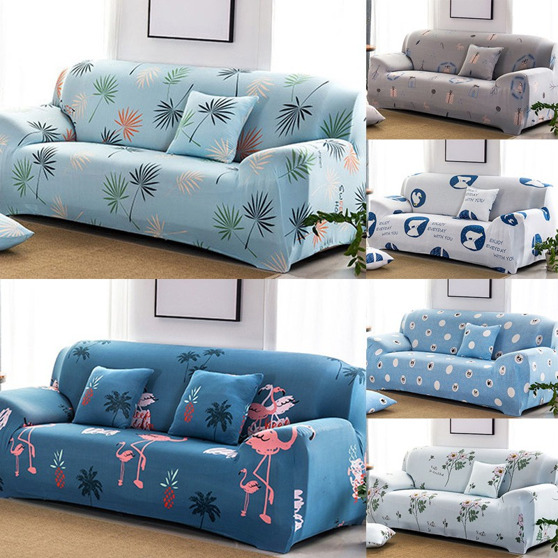 Fashion Sofa Cover Stretch Protector Flowers Cartoon 1 2 3