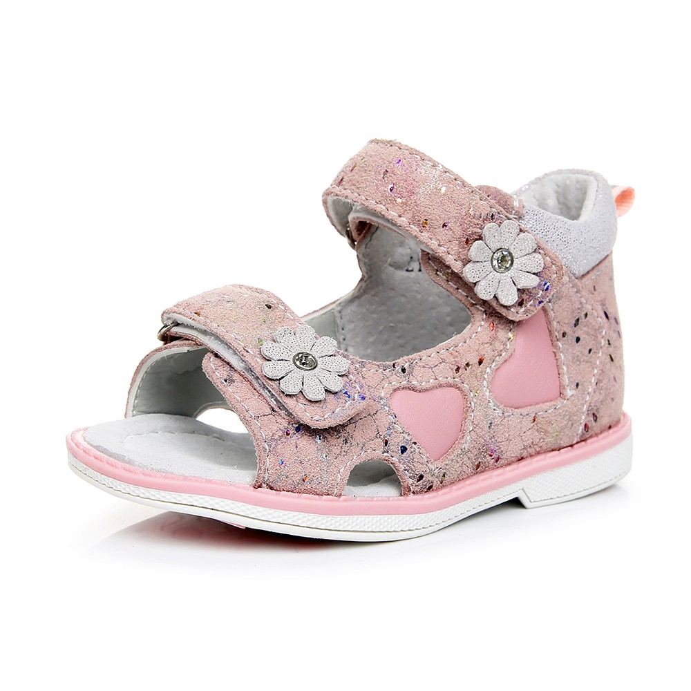 Apakowa Girls Sandals Flowers Love Soft Beach Genuine Leather Shoes Kids Princess Summer Fashion Cute Sandal Shopee Singapore