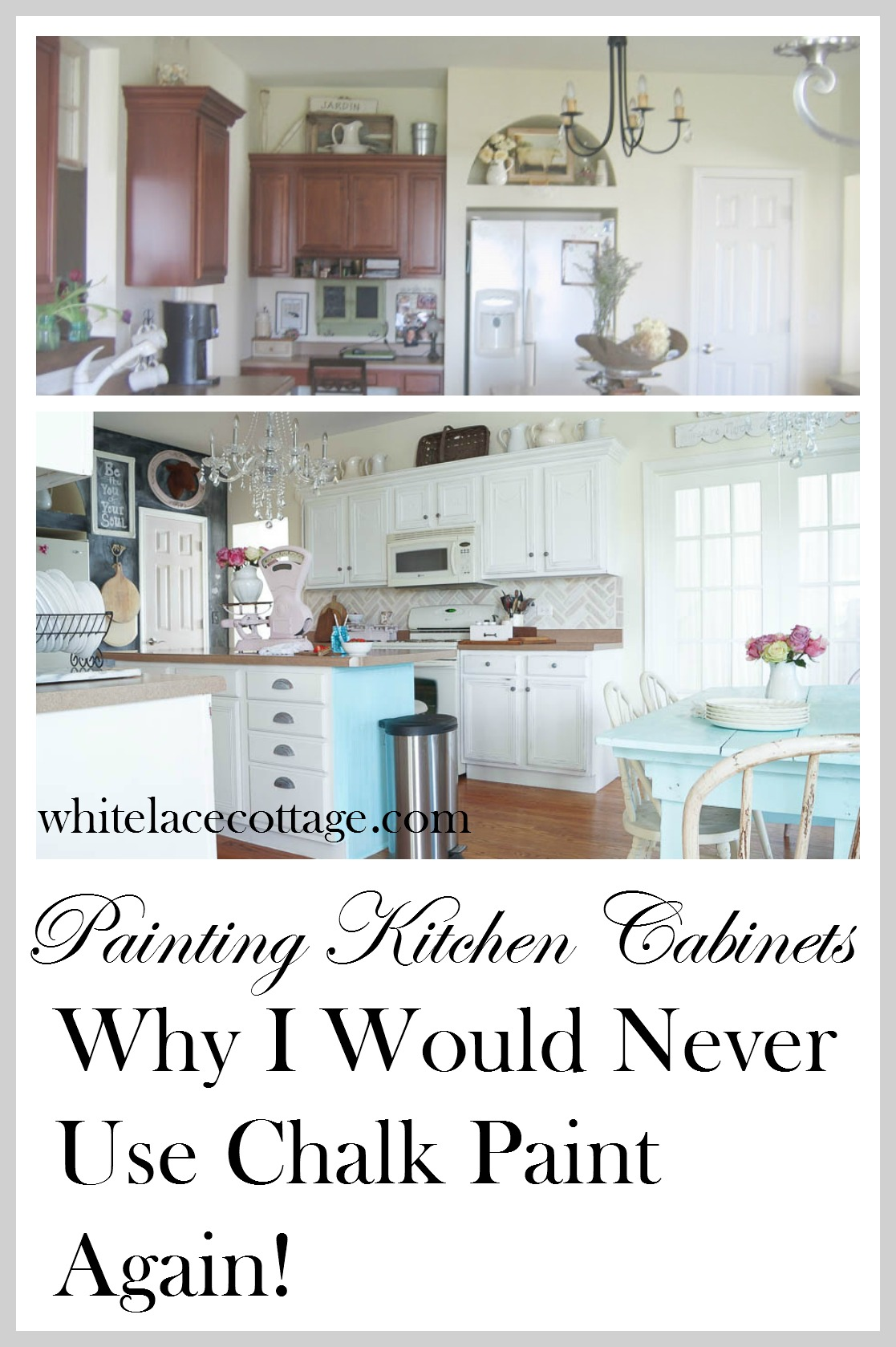 Chalk Paint Kitchen Cabinets Chalk Painted Kitchen Cabinets Never Again White Lace