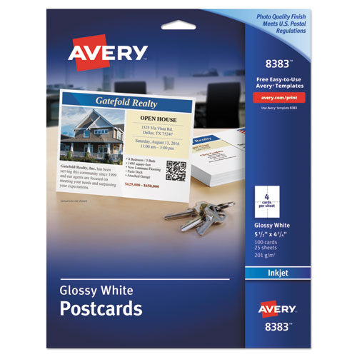 avery postcard template 8386