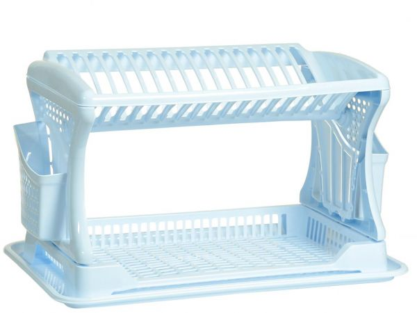 Dunya 2 Layer Plastic Dish Rack White Dpl07201 Souq Uae