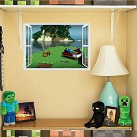Souq | Minecraft Creeper 3D Wall Decal/Cling Home Decor ...