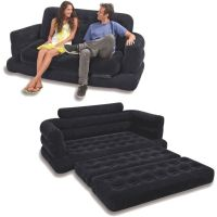 Intex Two Person Inflatable Pull Out Sofa Bed- Black ...