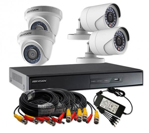 Kit Camera De Surveillance Exterieur Samsung Hikvision Turbo Hd 720p 4 Channel Cctv Camera Kit Ds-j1421