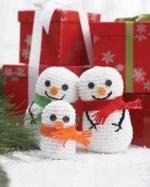 Crochet Snowman Family