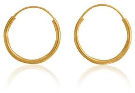Gold Filled Small Endless Hoop Earrings for Mens Womens