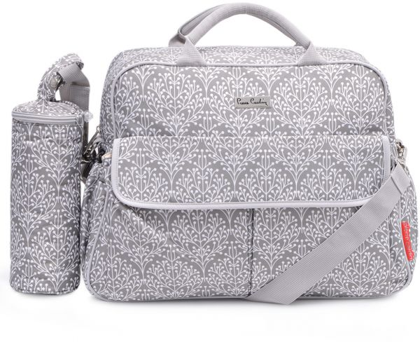 Pierre Cardin Pb8127 Diaper Bag With Bottle Holder Grey