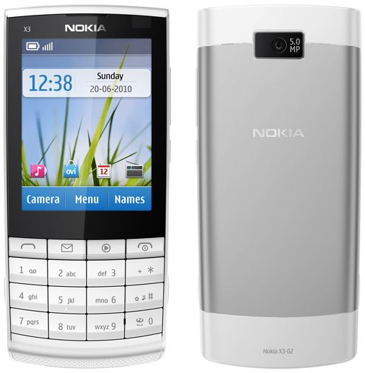Nokia X3-02 Touch  Type (White/English) Online at Best Price in - tuch mobil