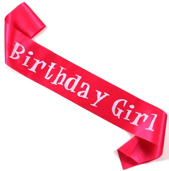 Birthday Girl Sash Super Model Ribbon happy birthday party favors