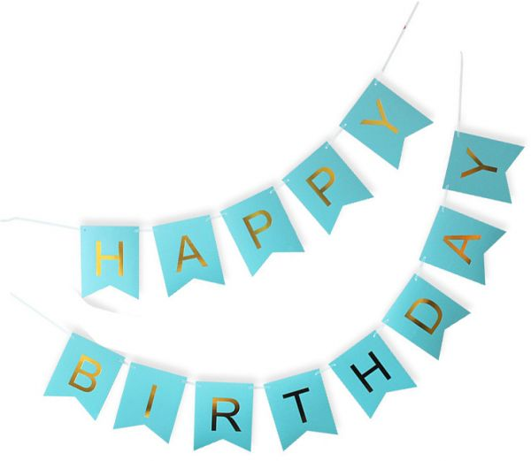 13pcs DIY Paper Bunting Garland Banners Flags Happy Birthday Banner