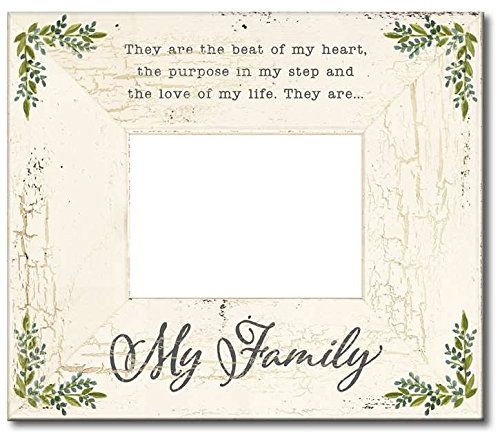 My Word! My Family-Rustic Frame Wooden Sign, 12\ - word design frames