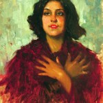 Leopoldo Romañach, Muchacha (Young Lady), c. 1930, oil on canvas, 25½ x18½ inches. Private Collection, Miami, Florida. Image courtesy of Cernuda Arte.