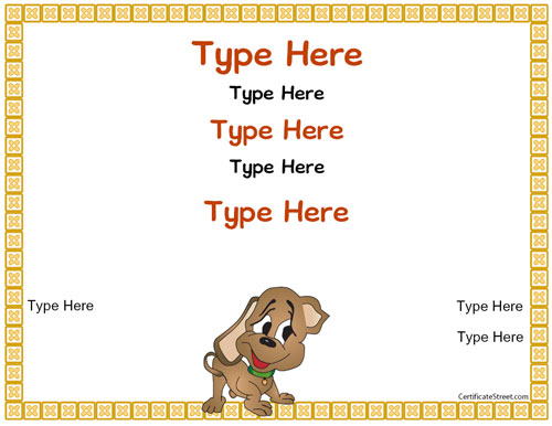 free puppy birth certificate template - Birth Certificate Template Printable