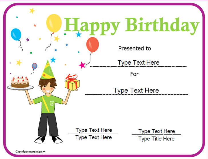 happy birthday gift certificate template - birthday gift certificate