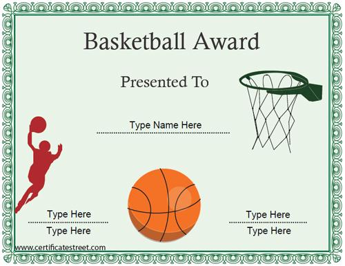 microsoft word certificate template sports - award certificate template for word