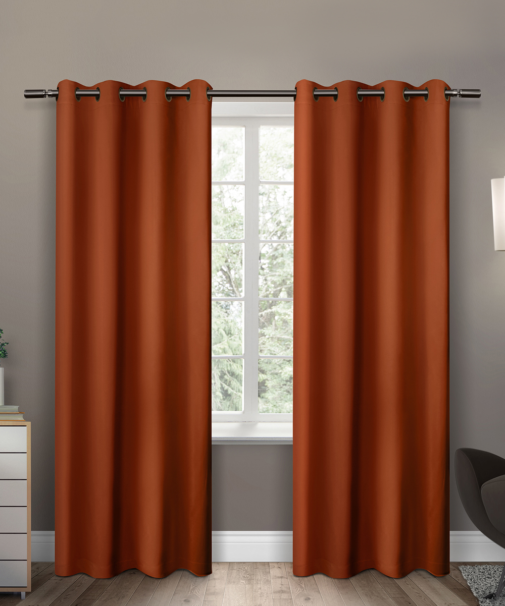 Orange Curtain Panels Exclusive Home Orange Insulated Blackout Curtain Panel Set Of Two