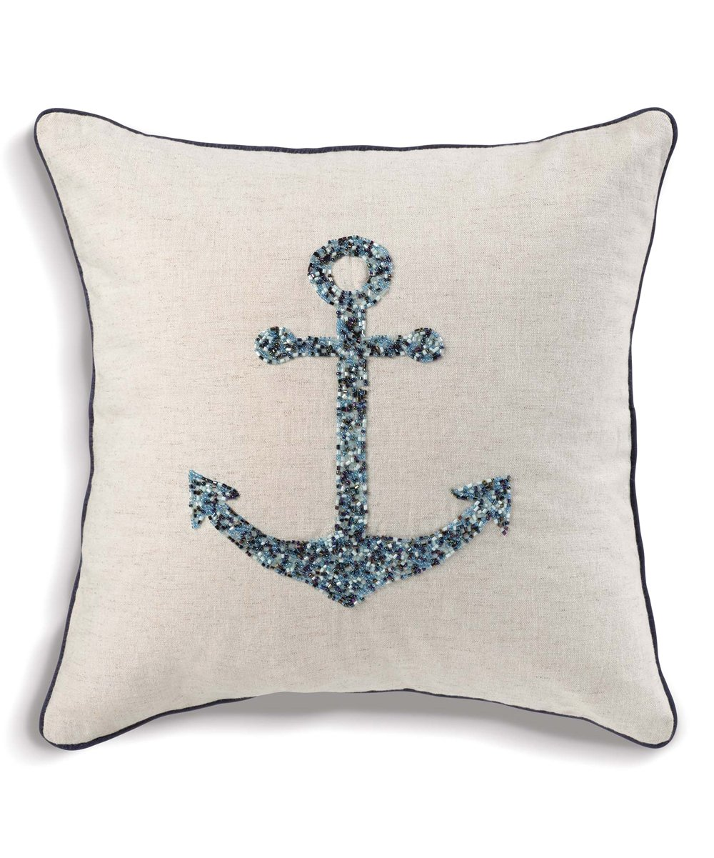 Nautical Sofa Throws Grasslands Road Coastal Anchor Throw Pillow
