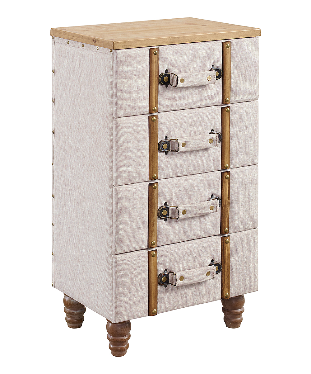 Cupboard Drawers Linon Home Natural Brown Sarah Four Drawer Cabinet