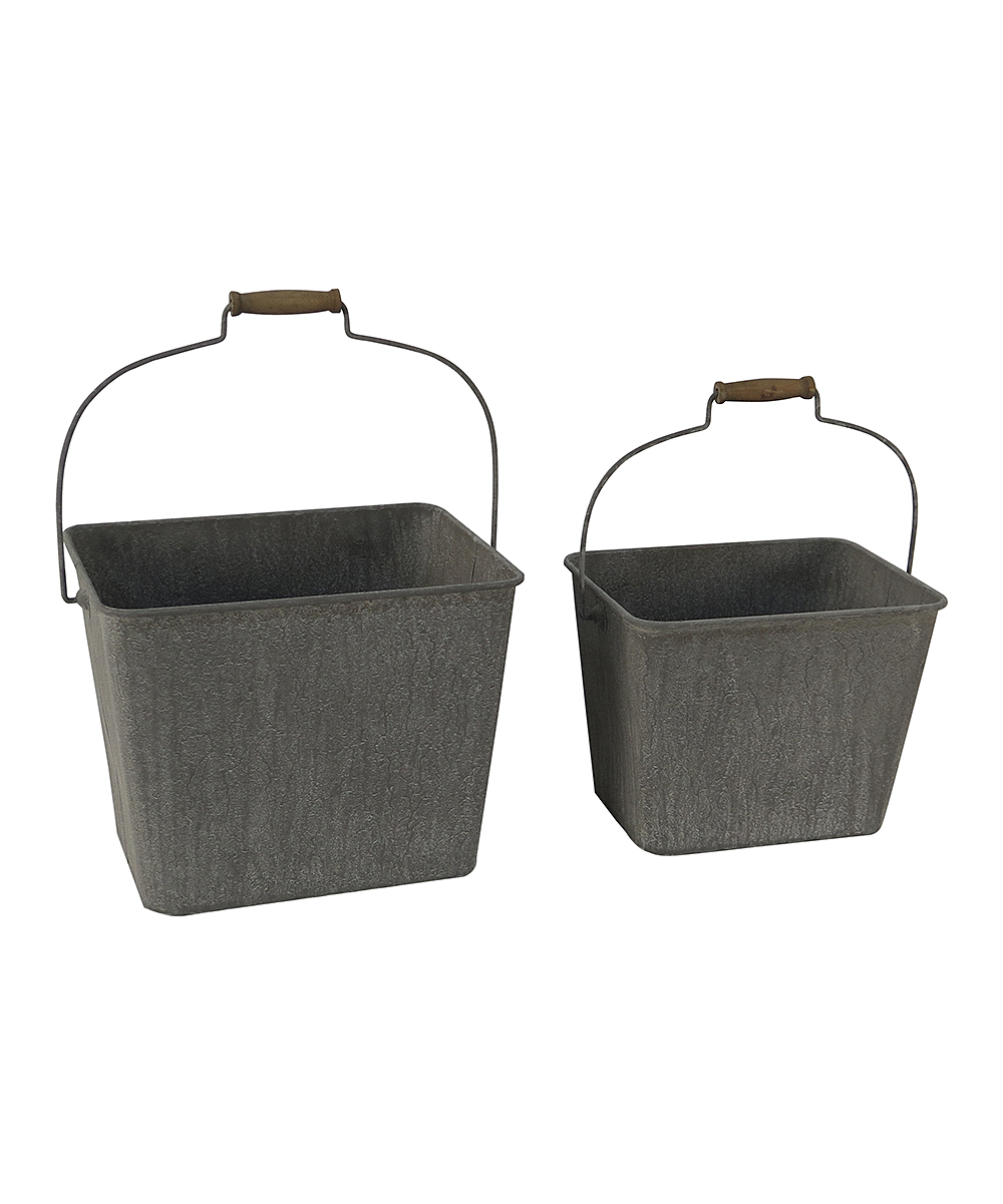 Metal Wash Bin Cheung S Rattan Imports Galvanized Metal Square Bin Set Of Two