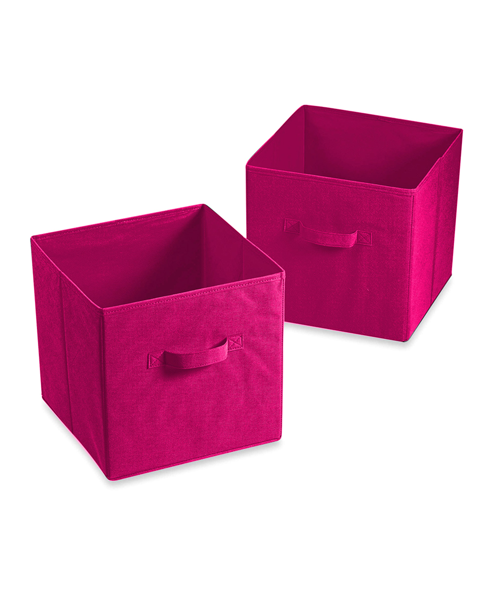 Pink Bins Flash E Sales Pink Cube Bedroom Storage Bins Set Of Two