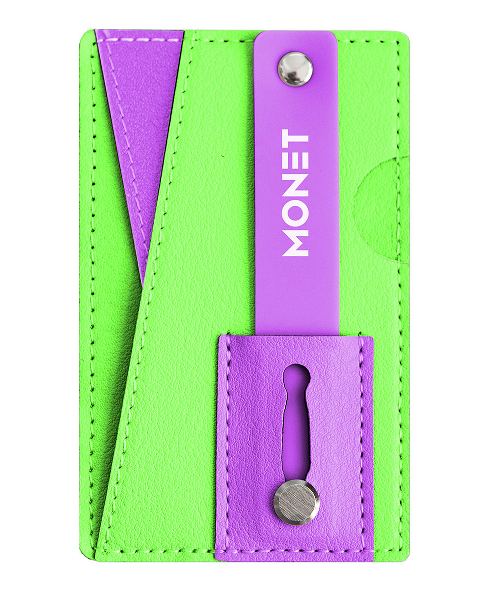 Phone Accessory Monet Green Purple Monet Leather Phone Accessory