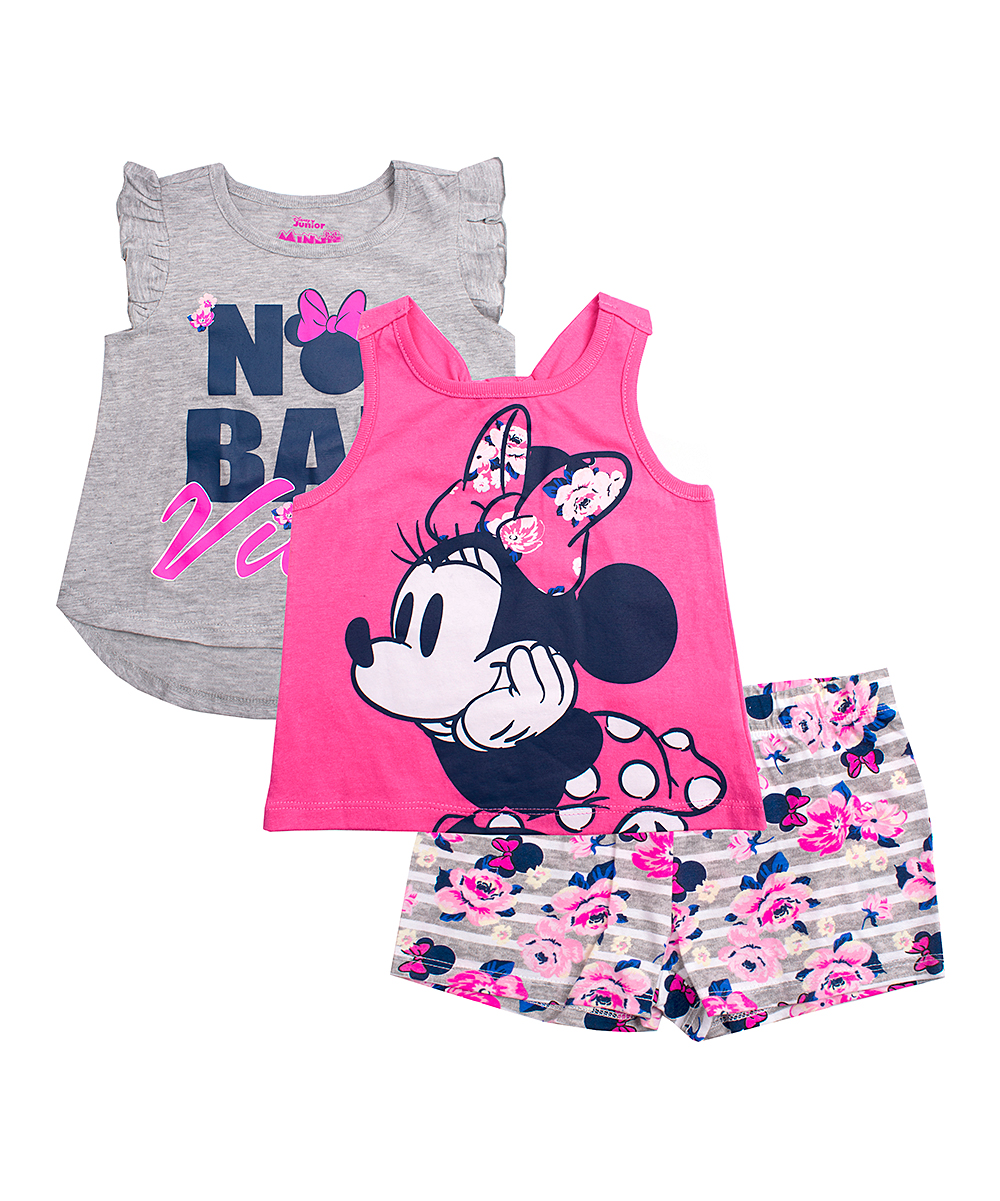 Bad Set For Baby Children S Apparel Network Minnie Mouse Gray Pink No Bad Vibes Shorts Set Infant