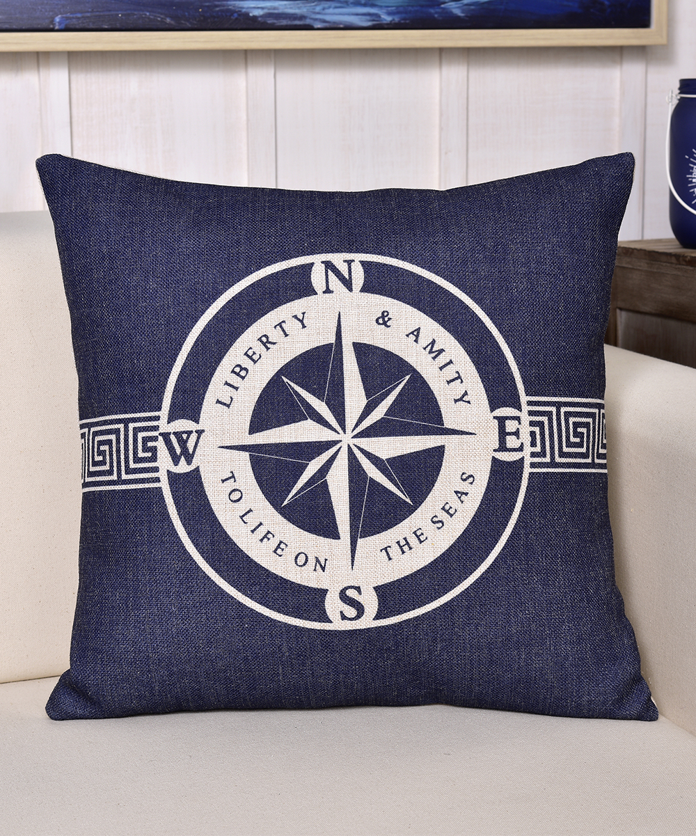 Nautical Sofa Throws Blue Nautical Throw Pillow