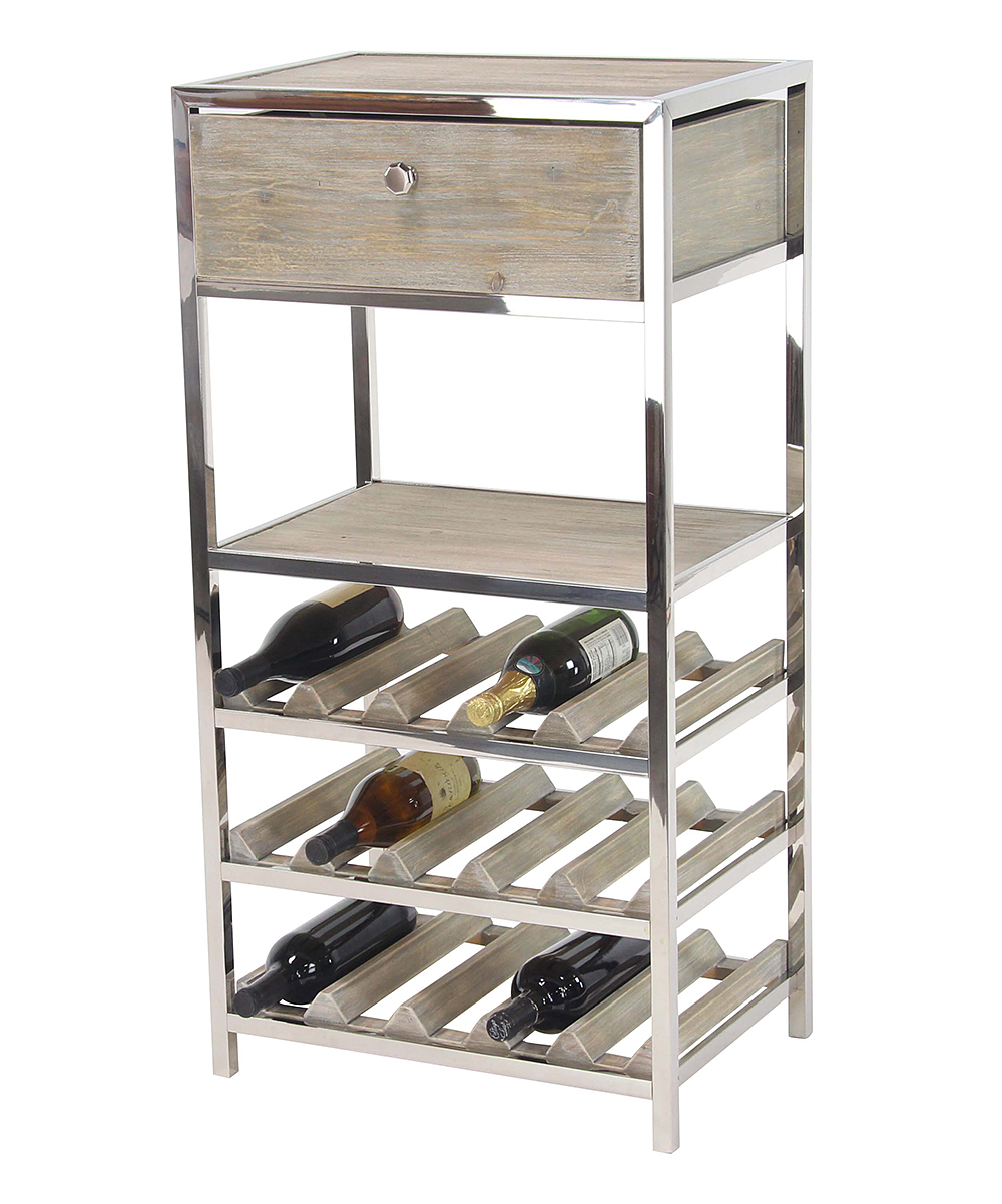 Metal Wine Storage Racks Stainless Steel Pine Wood Wine Storage Rack
