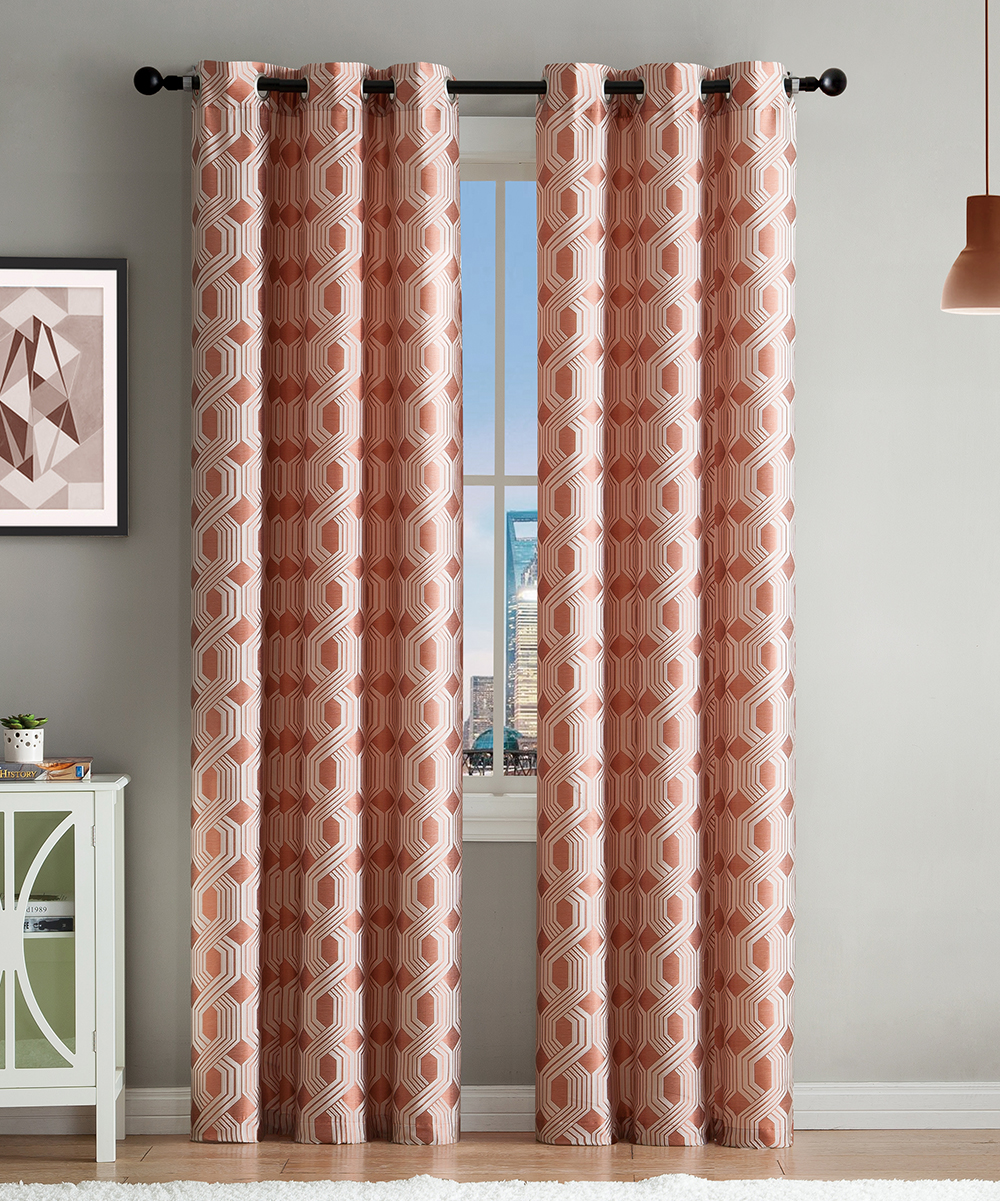 Jacquard Curtains Vcny Home Spice Jacquard Curtain Panel Set Of Two