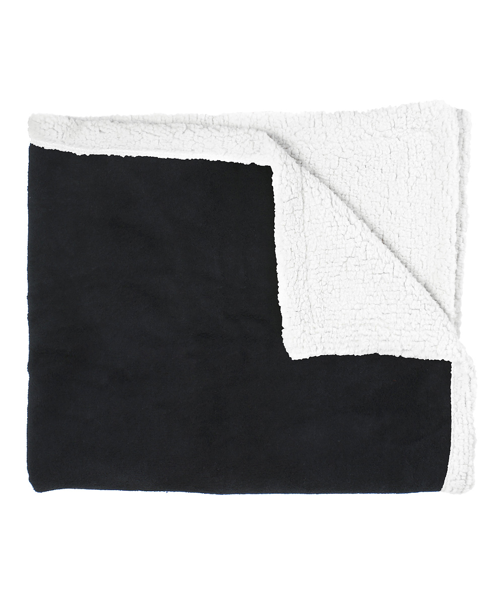Lounge Throw Simplicity Black Deluxe Lounge Throw