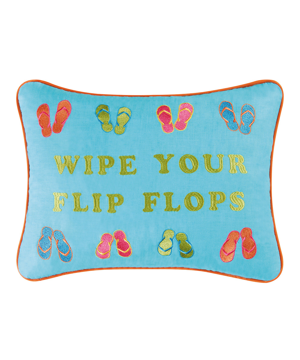 Flip Flop Chair Bed Dogwood Market Wipe Your Flip Flops Throw Pillow