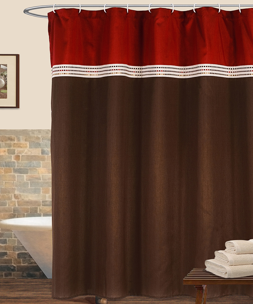 Red And Brown Shower Curtain Red Brown Terra Shower Curtain