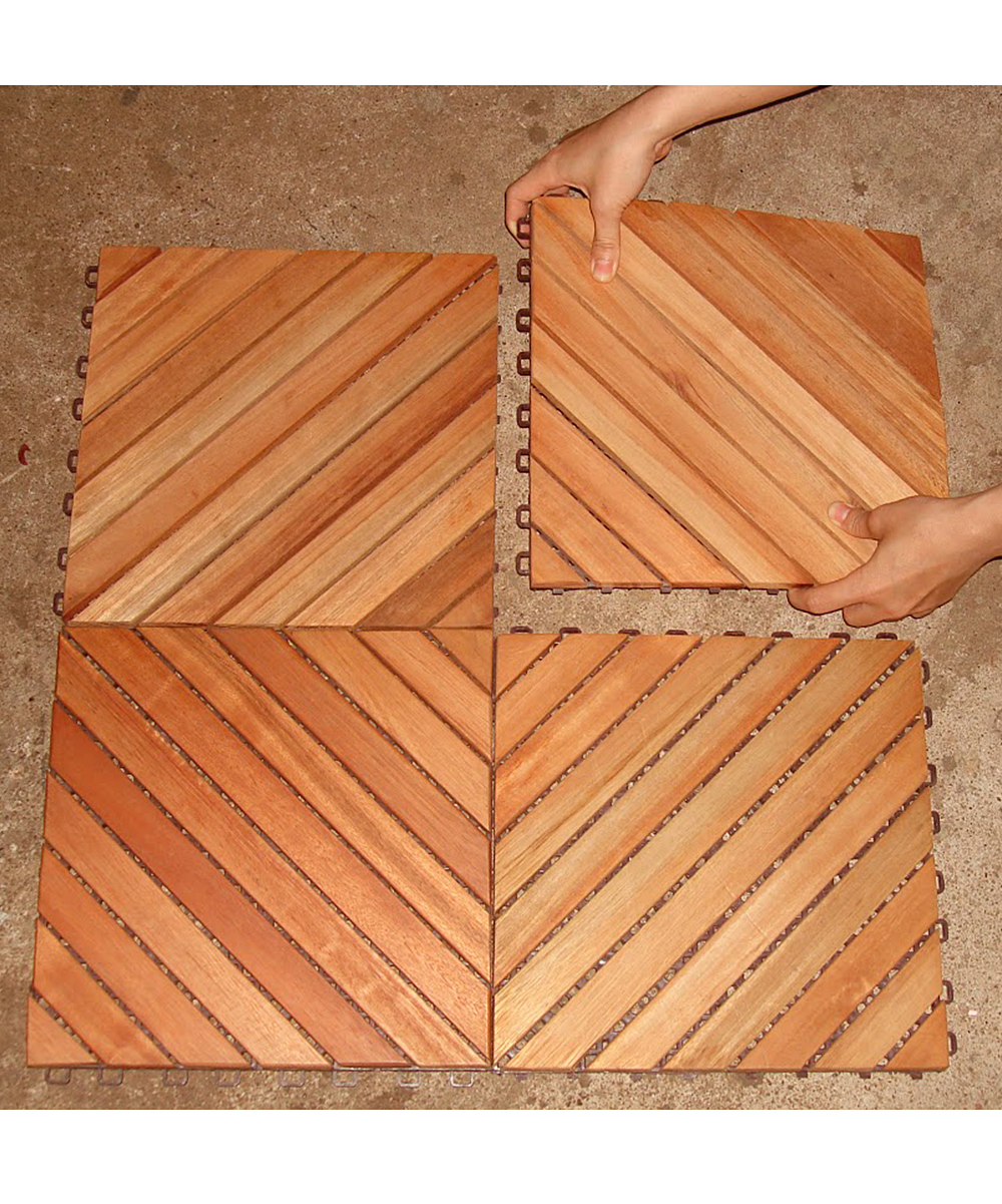 Interlocking Deck Tiles Vifah Eucalyptus Interlocking Deck Tile Set Of 10