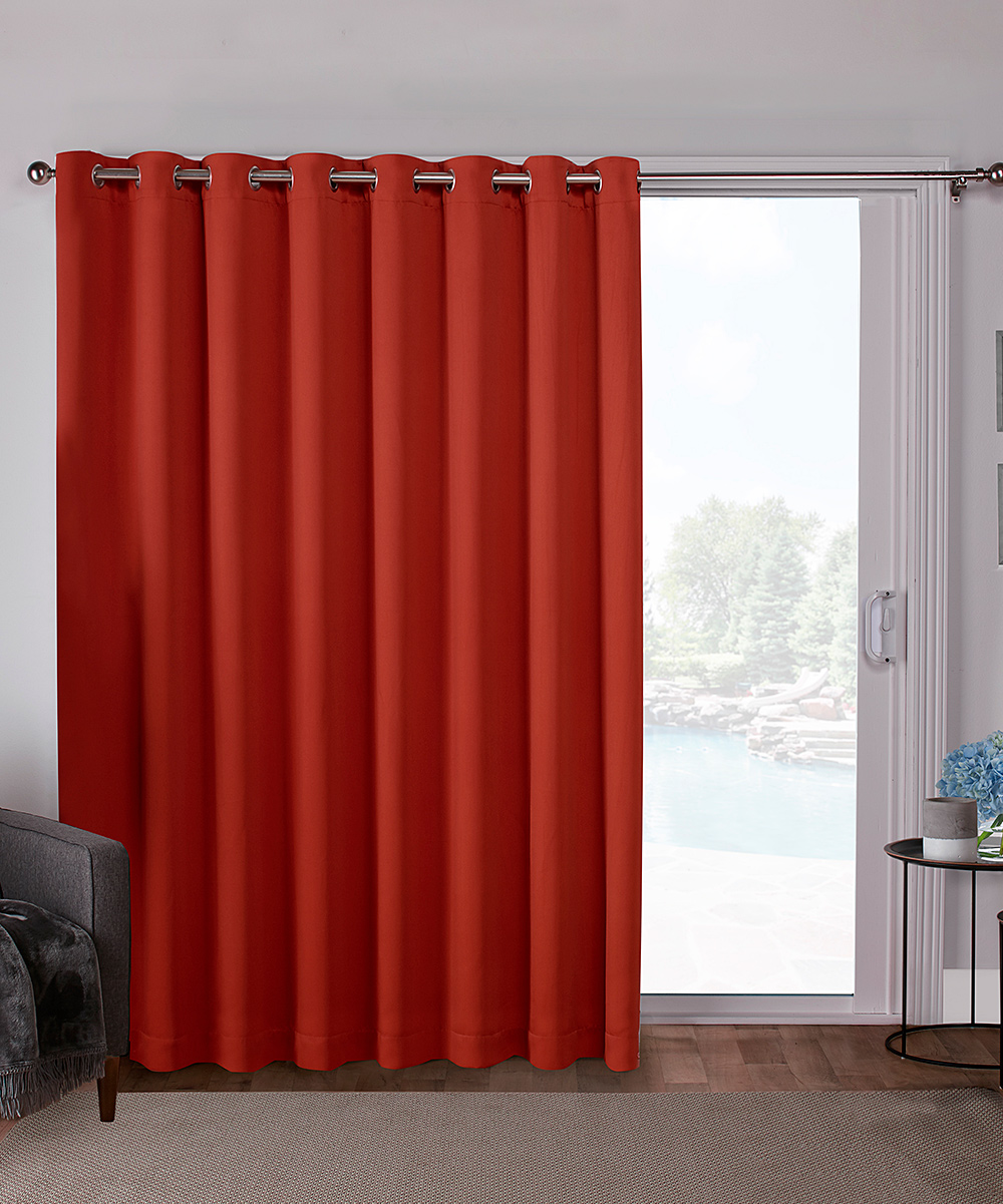 Orange Curtain Panels Exclusive Home Mecca Orange Sateen Blackout Patio Curtain Panel