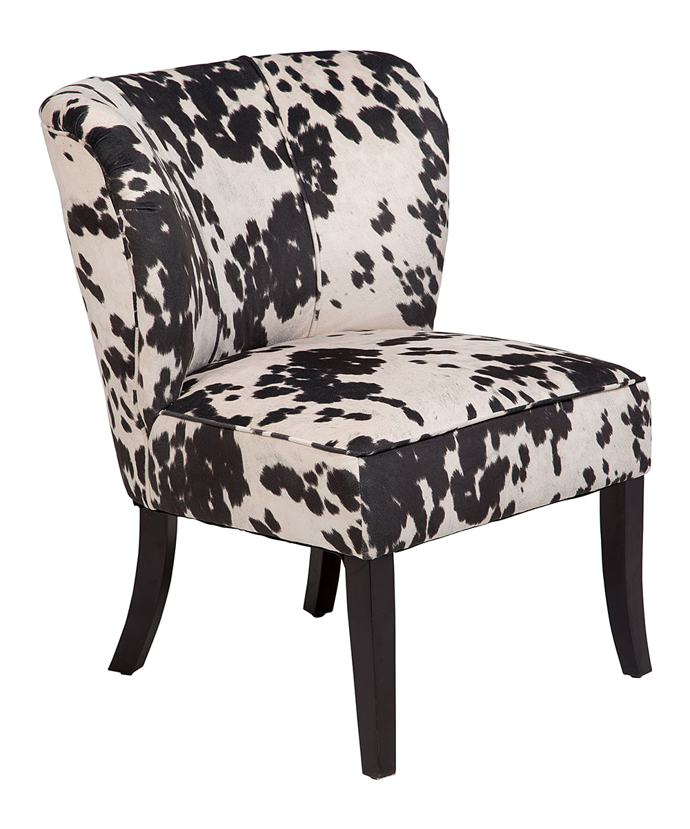 Black And White Accent Chair Porter Designs Black White Mimi Tulip Back Cow Print Accent Chair
