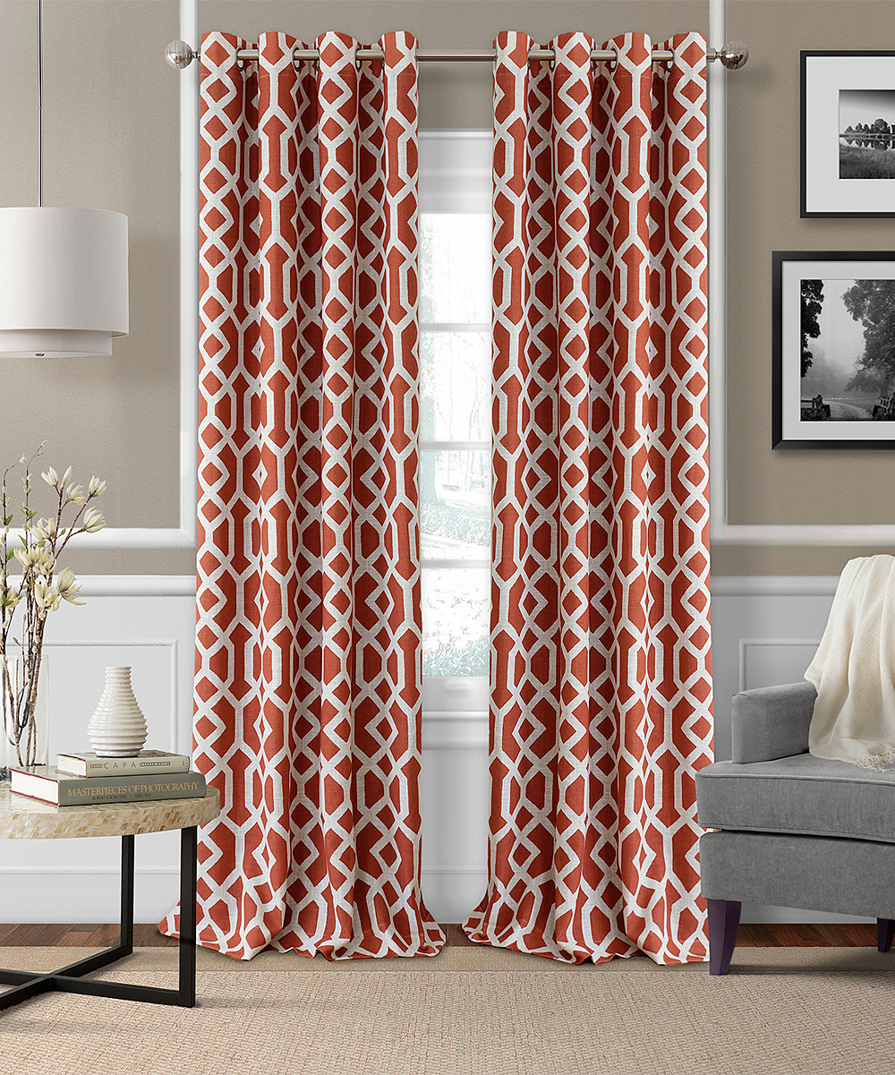Dark Red Blackout Curtains Elrene Home Fashions Rust Grayson Linen Blend Blackout Curtain Panel
