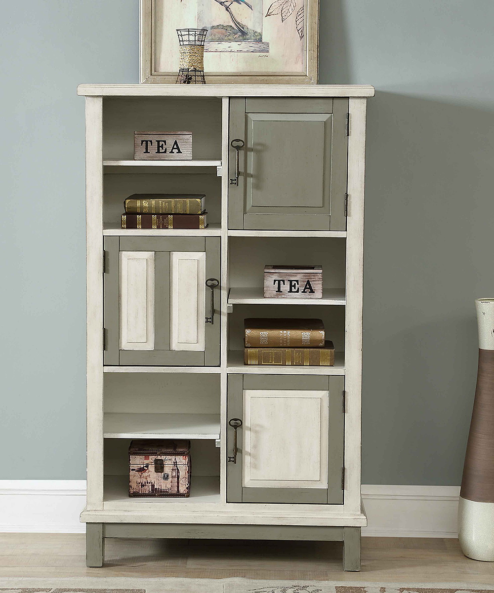 Vintage Bookcase Coast To Coast Keys Three Door Bookcase
