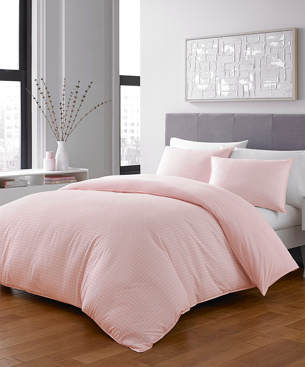 Pink Duvet Cover City Scene Pink Penelope Duvet Cover Set