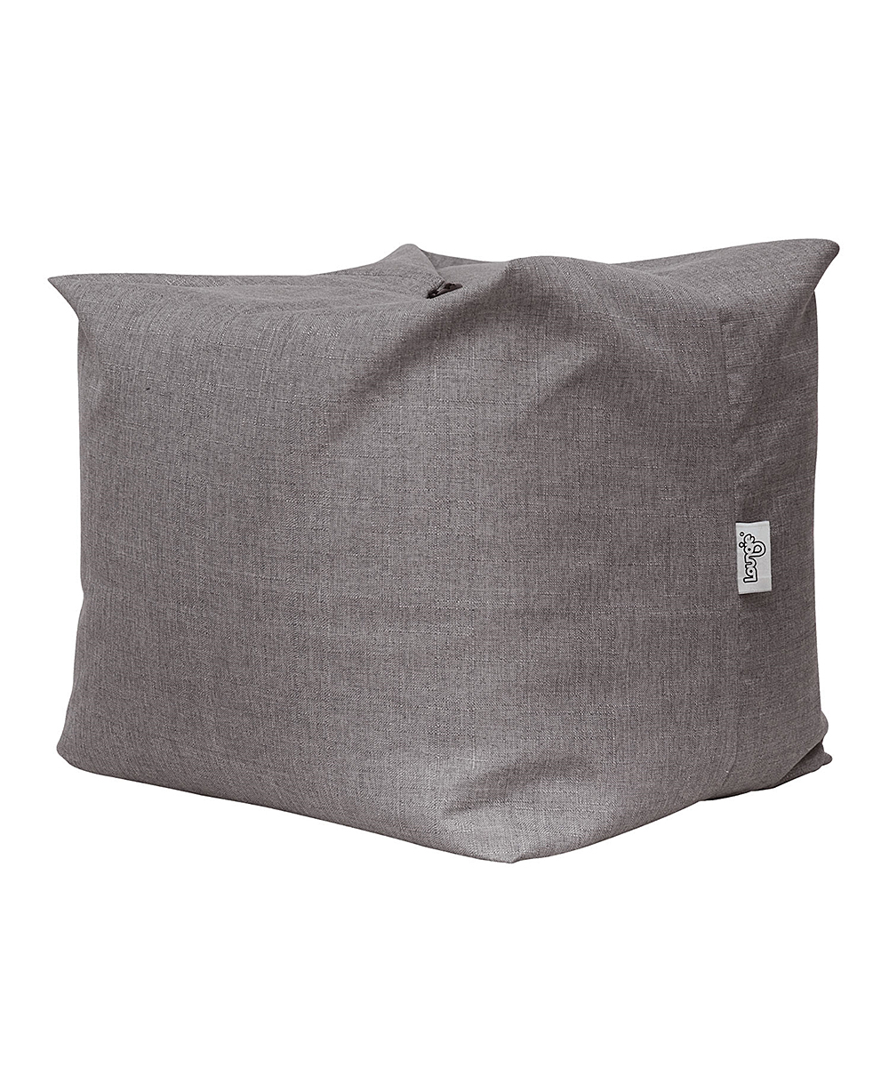 Pouf Convertible Loungie Gray Linen Magic Pouf Three In One Loungie Bean Bag