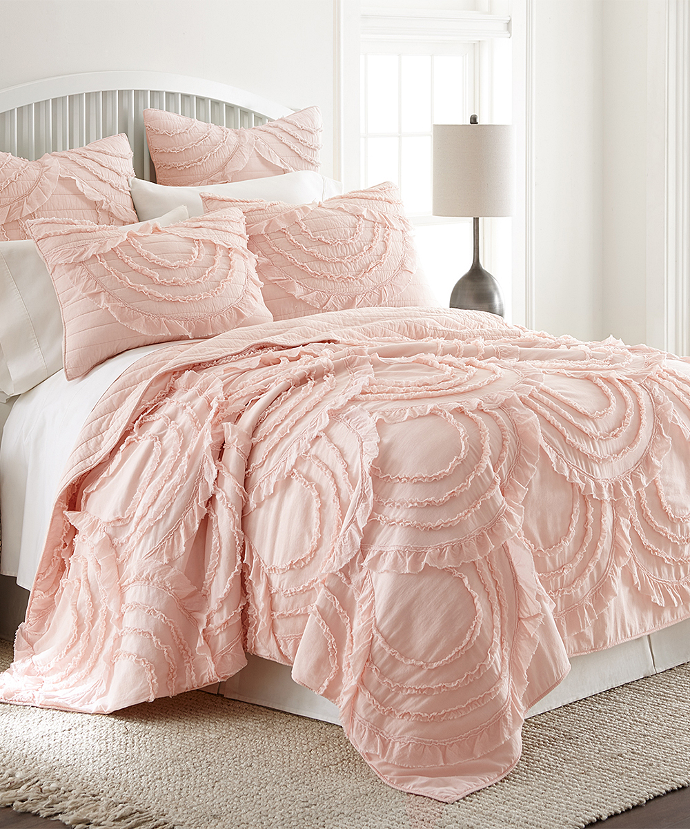 Blush Pink Quilt Cover Levtex Home Layla Blush Quilt Set