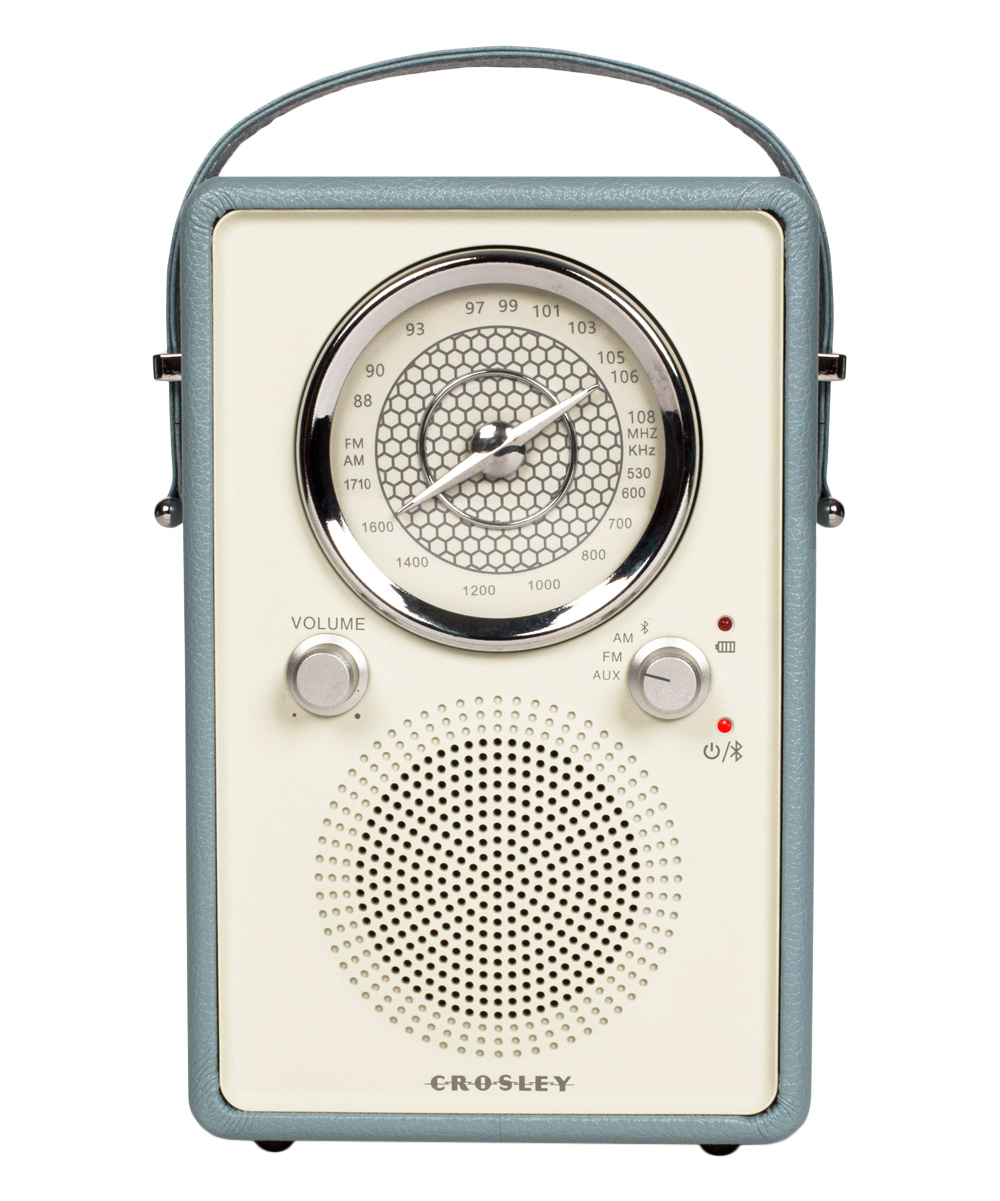 Crosley Radio Crosley Radio White Blue Mockingbird Radio