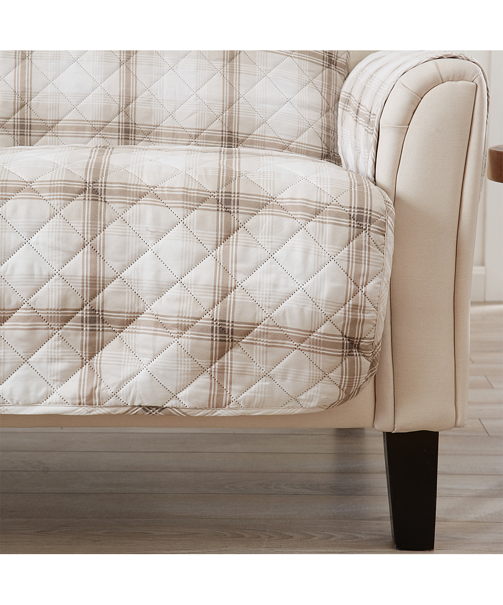 Plaid Taupe Home Fashion Designs Taupe Plaid Furniture Protector