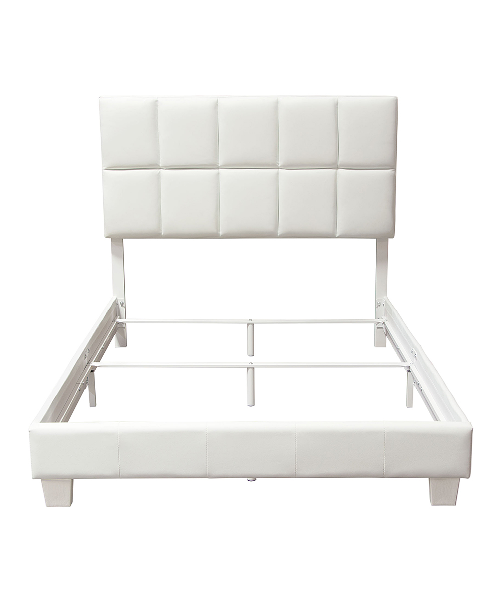 Faux Leather Sofa In A Box Diamond Sofa White Biscuit Faux Leather Queen Bed Complete