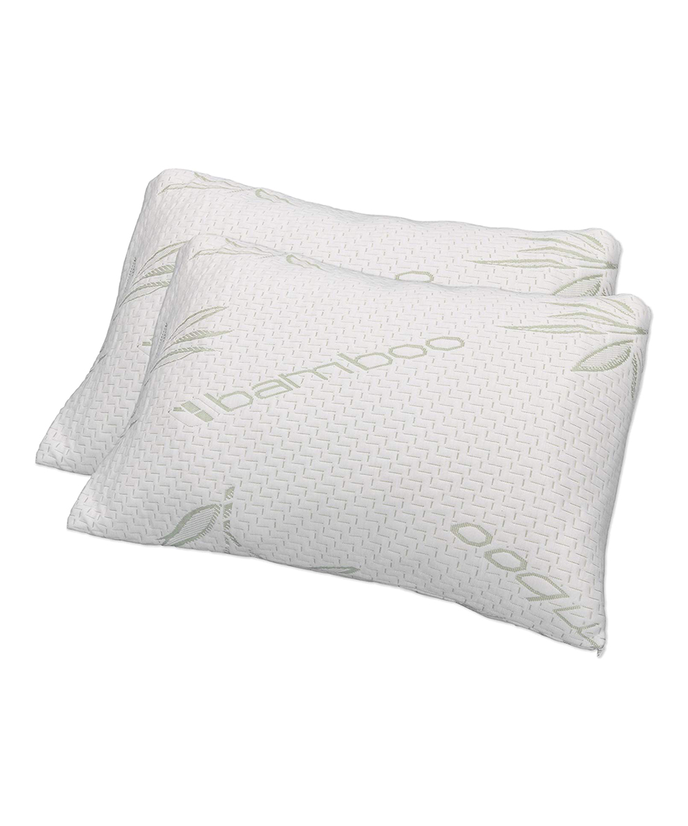 Gel Infused Memory Foam Pillow Sleep Yoga White Gel Infused Memory Foam Cluster Pillow Set Of Two